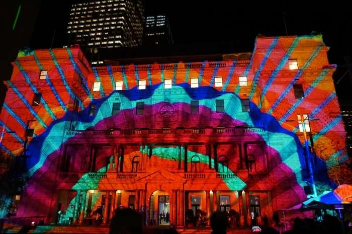 Customs House during Vivid Sydney