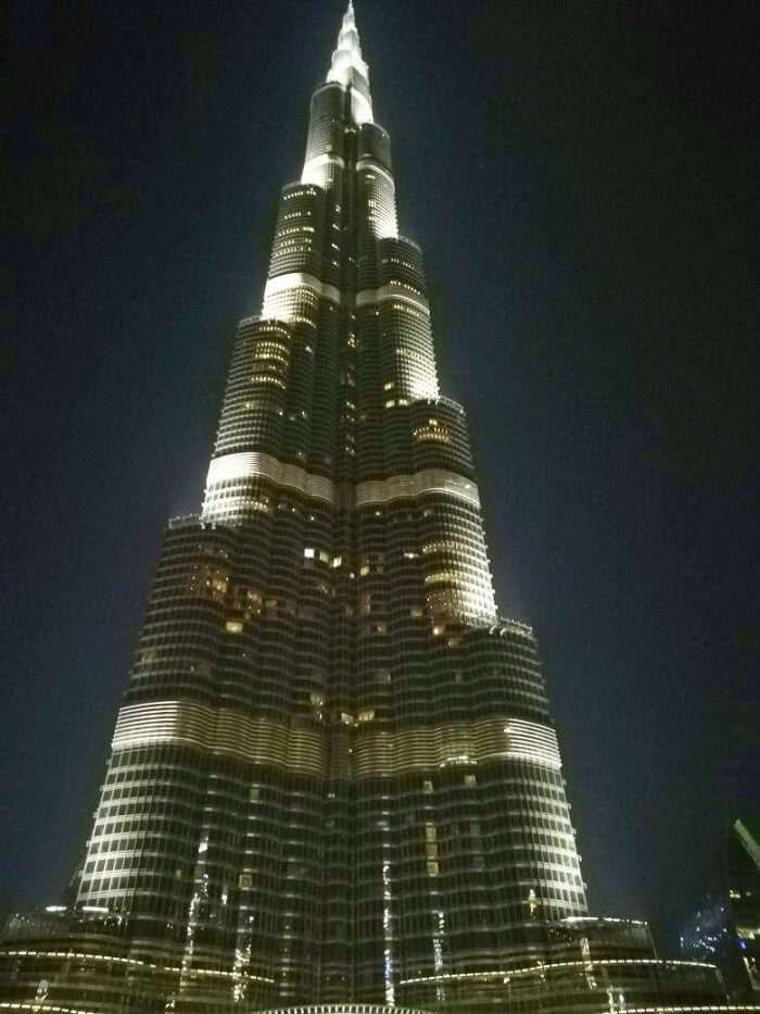 ashish singhal dubai honeymoon trip: burj khalifa at night