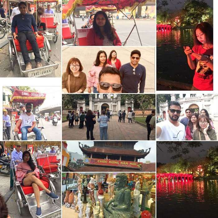 pallavi vietnam family trip: hanoi tour collage