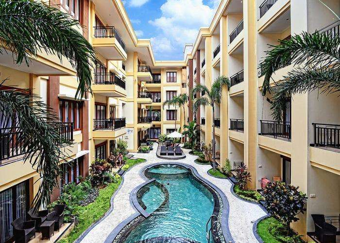 swimming pool at Kuta Apartments