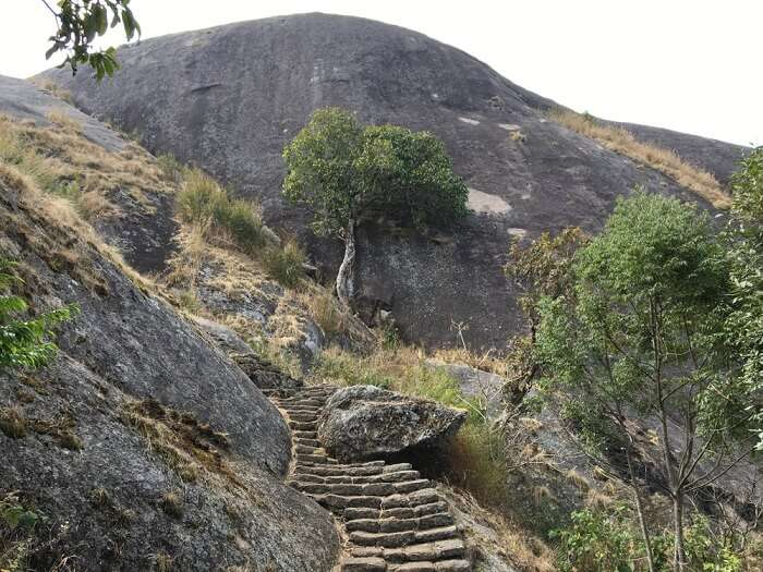 huge granite rock formation