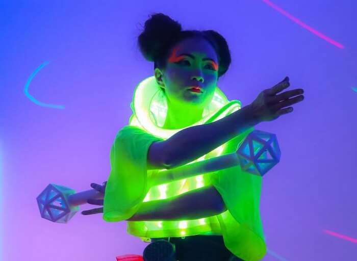 led outfit vivid sydney