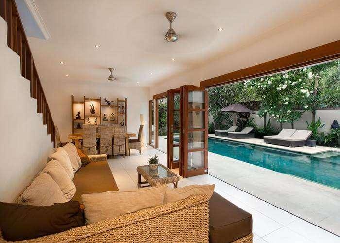 Lounge area of Villa Puri