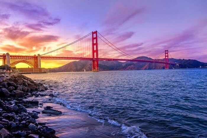 san francisco bridge evening