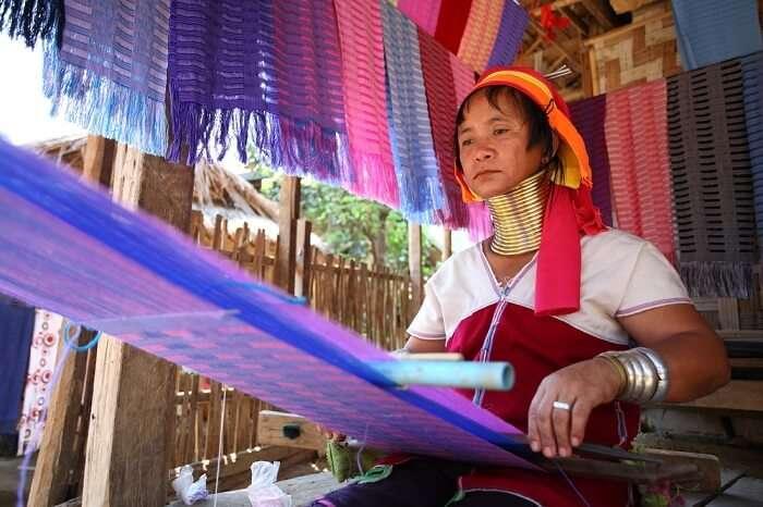 Women from Karen Tribe
