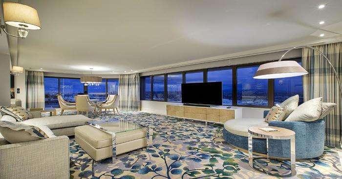 luxury accomodation and coastal view