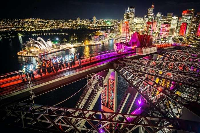 Darling Harbor during Vivid Sydney