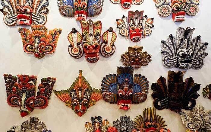 wooden Sri Lanka traditional masks ss01052018