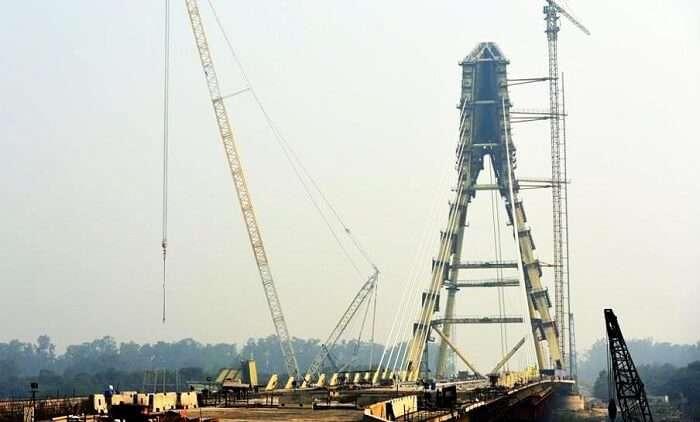 Eiffel Tower Like Bridge In Delhi