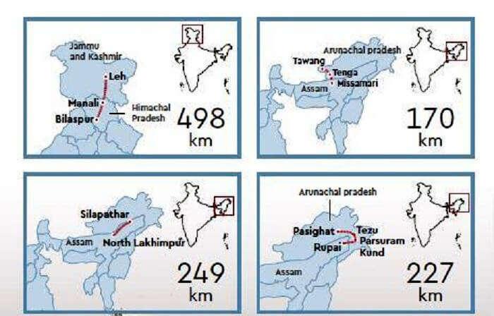 Bilaspur-Manali-Leh Rail Route