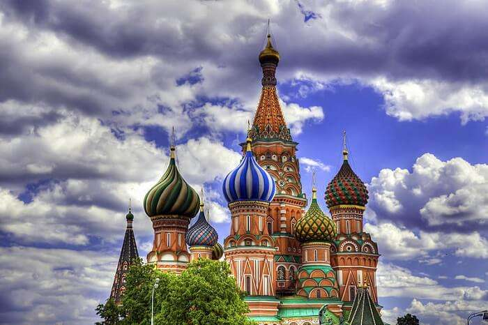 Get blessed at Saint Basil's Cathedral
