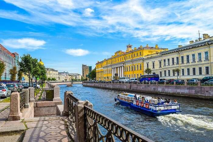 Go for a canal tour in Russia