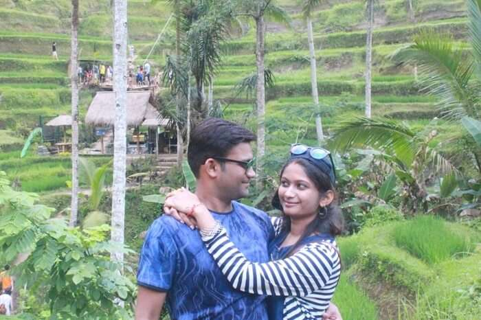 Romantic honeymoon in Bali