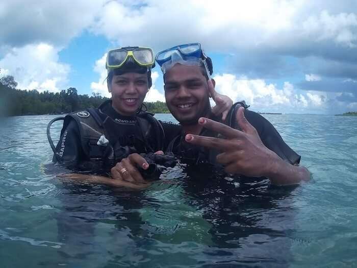 Diving at andaman