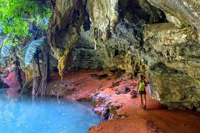 Swim in the waters of the Hinagdanan Cave Philippines