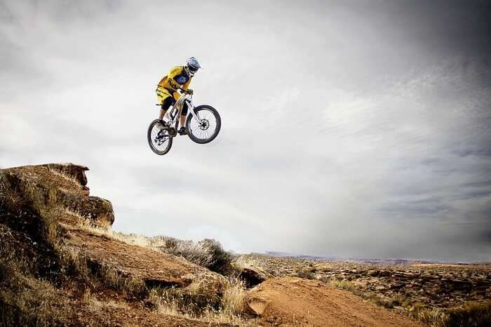 Mountain biking is one favourite sport nowdays