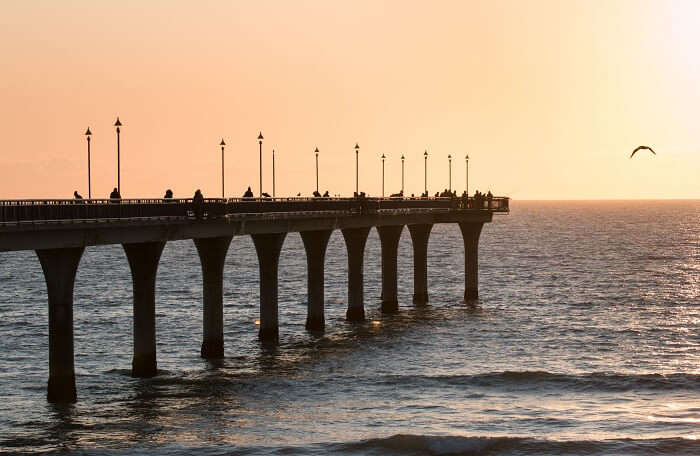 a gorgeous pier during sunset
