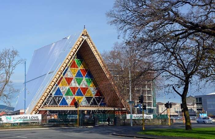 a colourful structure in Christchurch