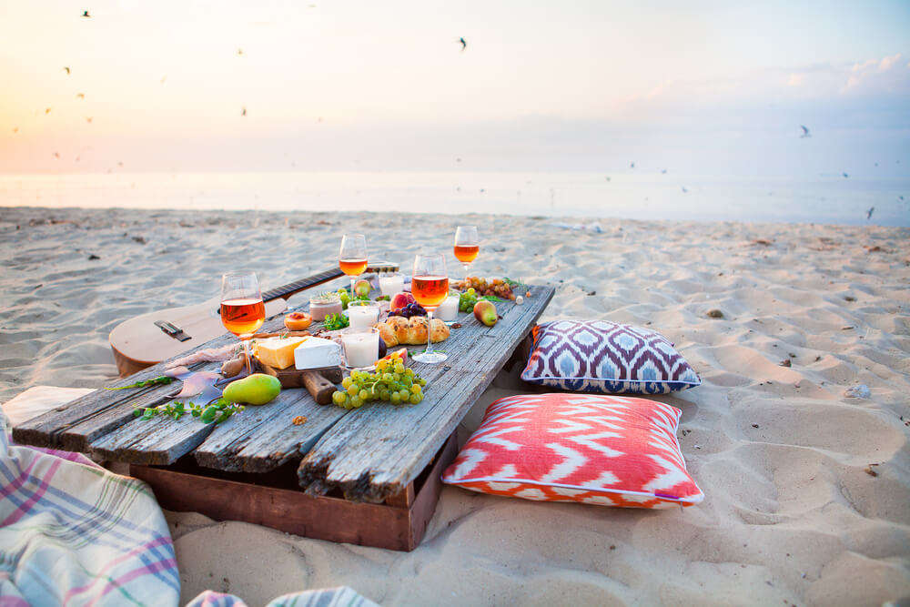 food at the beach