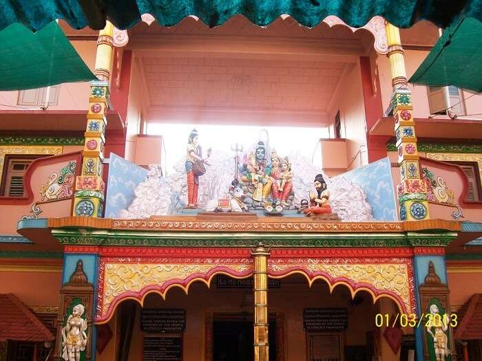 the shrine houses a unique standing posture of Ganpati