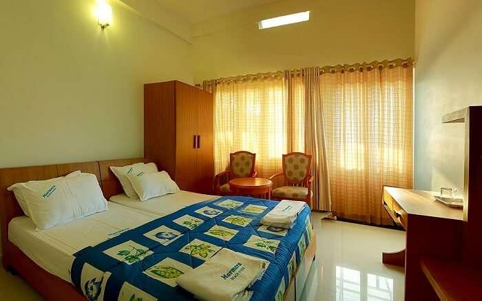 inside the room of Marmara Beach House in Kannur