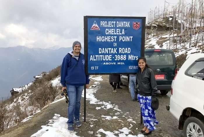 mahesh bhutan trip chelela pass snow