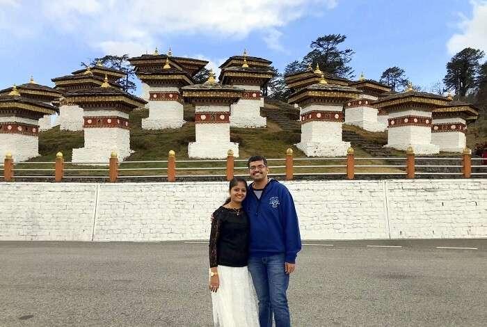mahesh bhutan trip dochula pass together