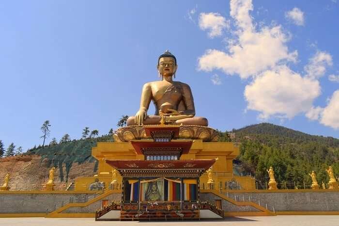 mahesh bhutan trip statue of buddha