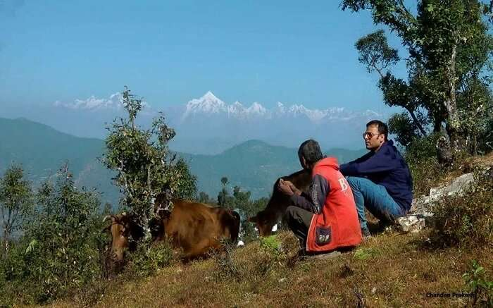 people enjoying the mountains of Chaukori
