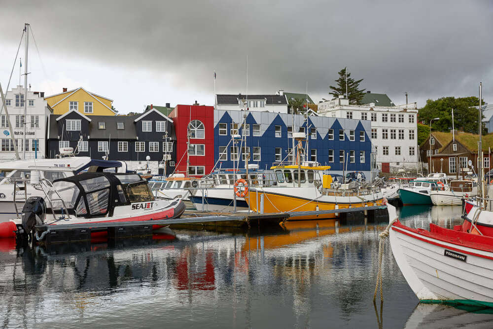 the colorful homes of the Faroe