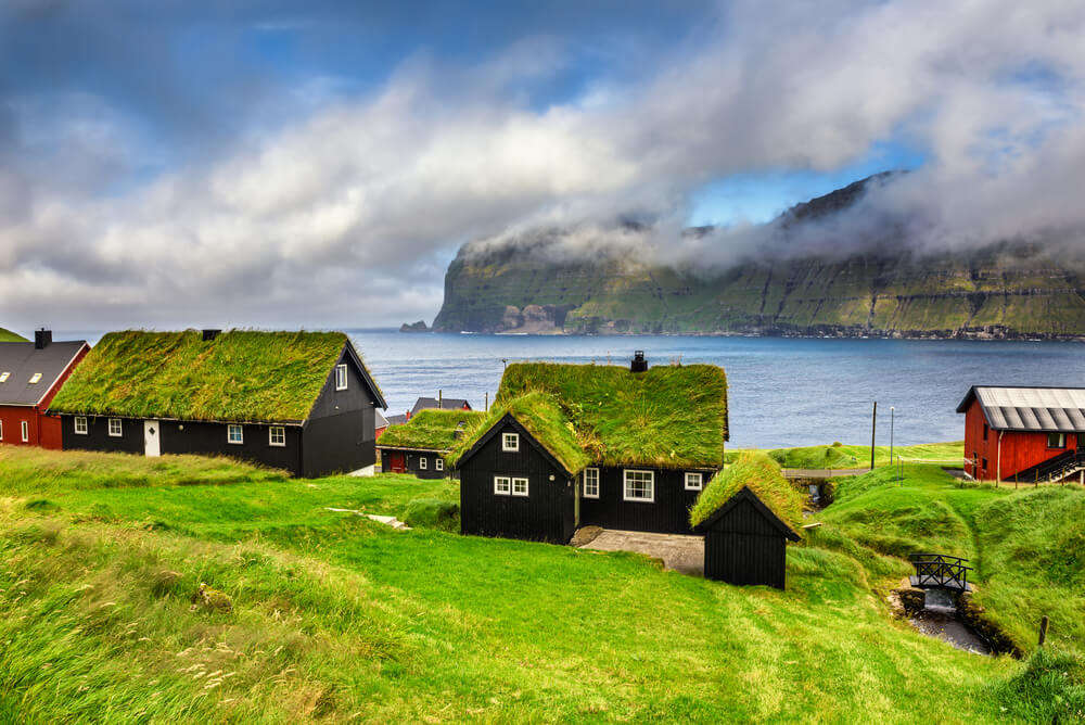 moss covered homes in Faroe