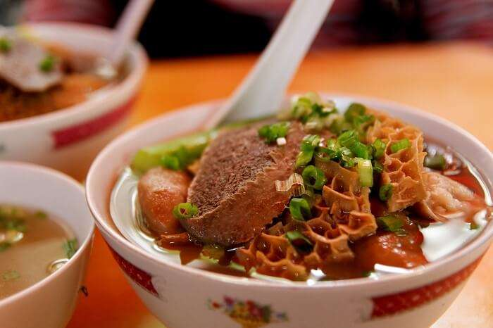 beef tripe with noodles
