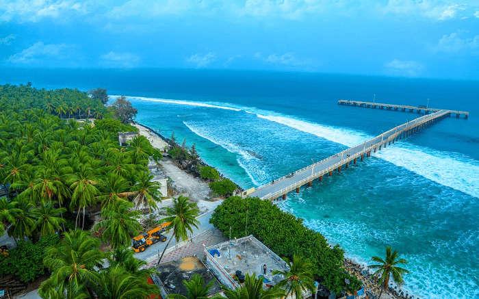 view of the gorgeous Kadmat Island