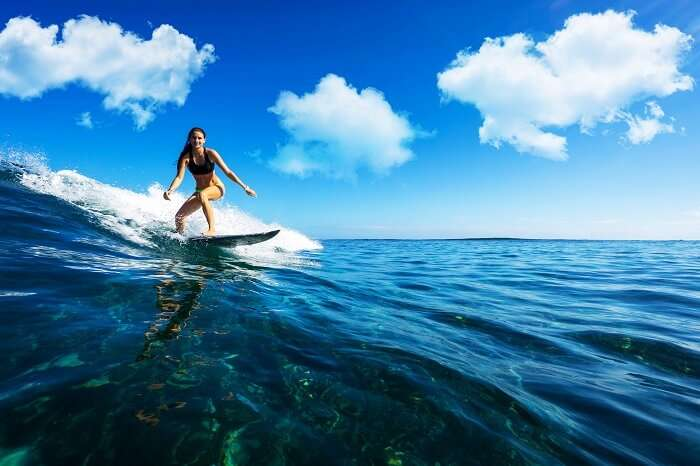 Surfing in Seychelles