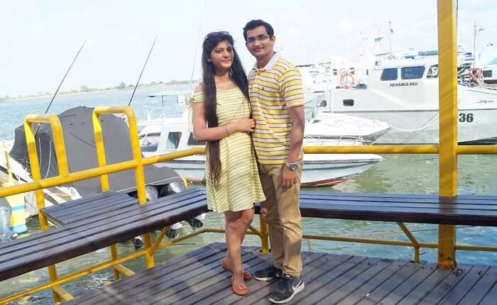 Couple on a cruise Bali