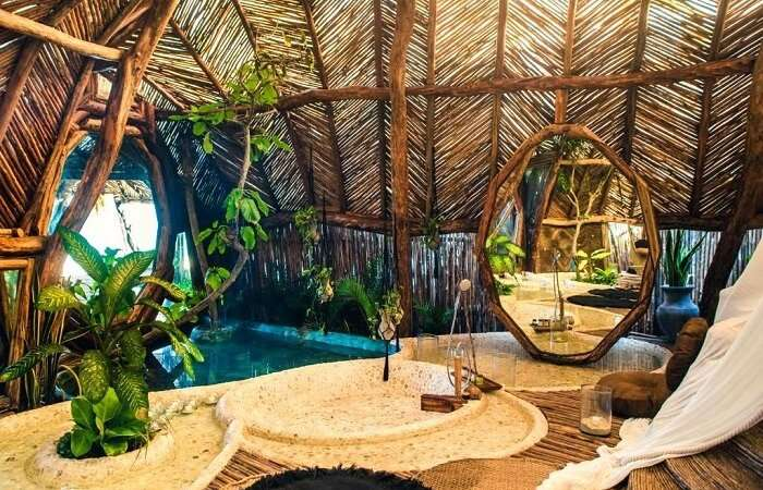 jungle villa in Azulik Eco Resort