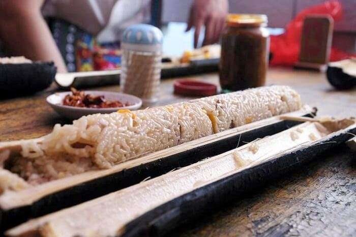 Bamboo Tube Rice