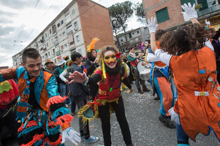 A carnival parade in Naples, Italy
