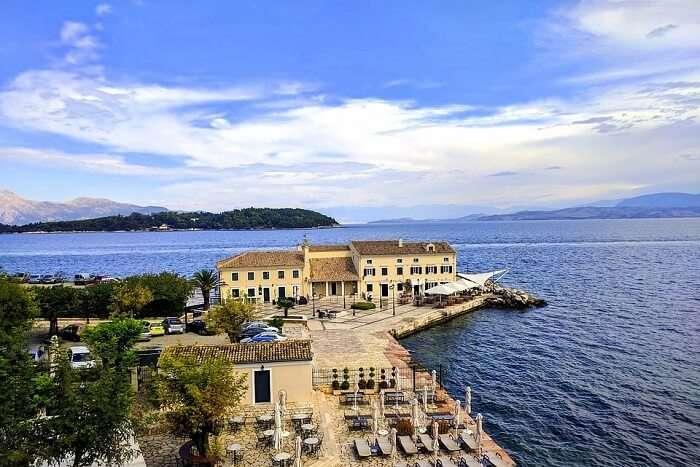 Island Coast Mediterranean Corfu Ionian Greece