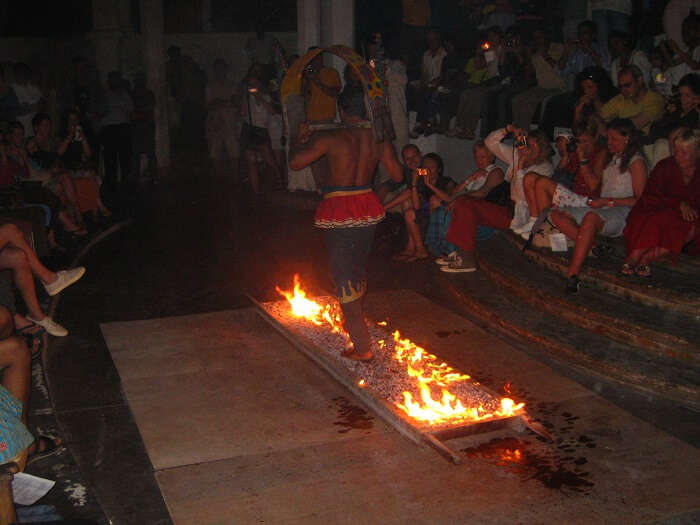 people walking on fire in fiji