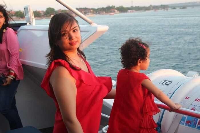 on cruise in Bali