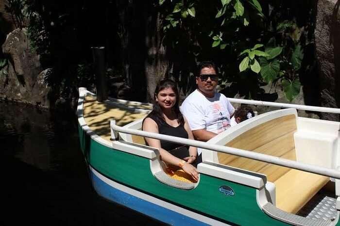 boat ride in Bali Safari