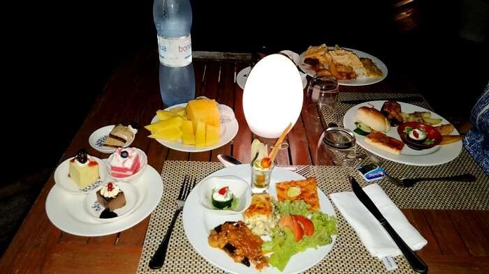 veg food in maldives
