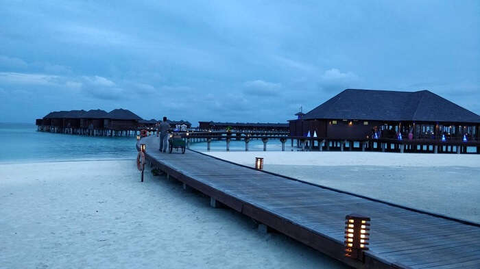 wide angle view of olhuveli resort
