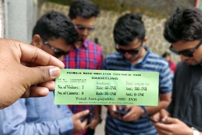 Darjeeling zoo ticket