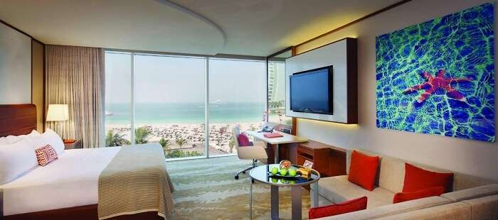 Jumeirah Beach Hotel is a striking sight