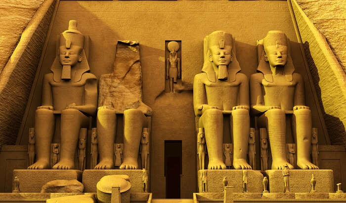 Rock Temples of Abu Simbel in egypt