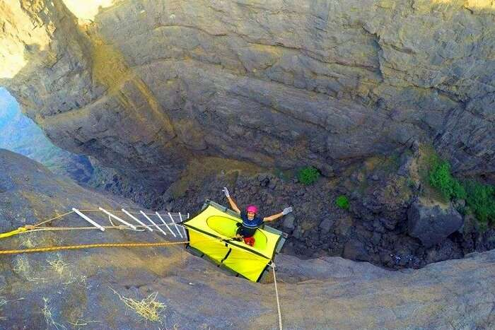 The Experience Of Cliff Camping At Sandhan Valley Hanging Tent