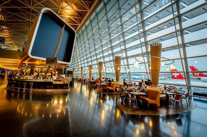 the modern, calm and comfortable airport