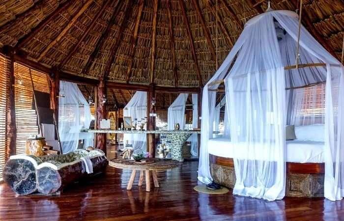 aqua villa in Azulik eco resort
